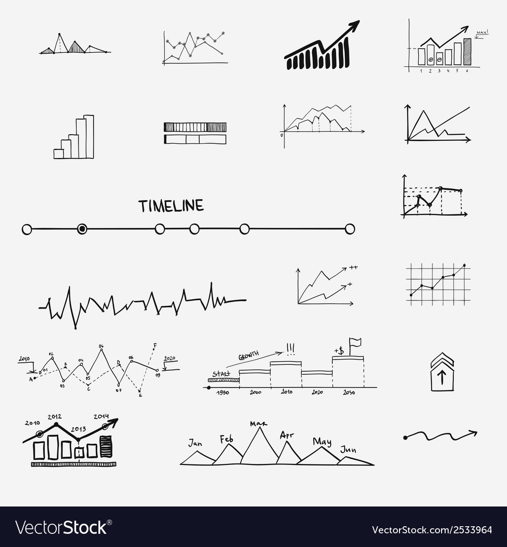 Business finance statistics infographics doodle vector | Price: 1 Credit (USD $1)