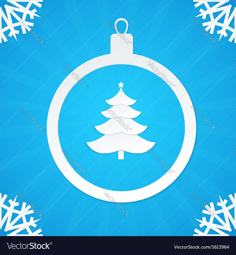 Christmas postcard ball 2 vector | Price: 1 Credit (USD $1)