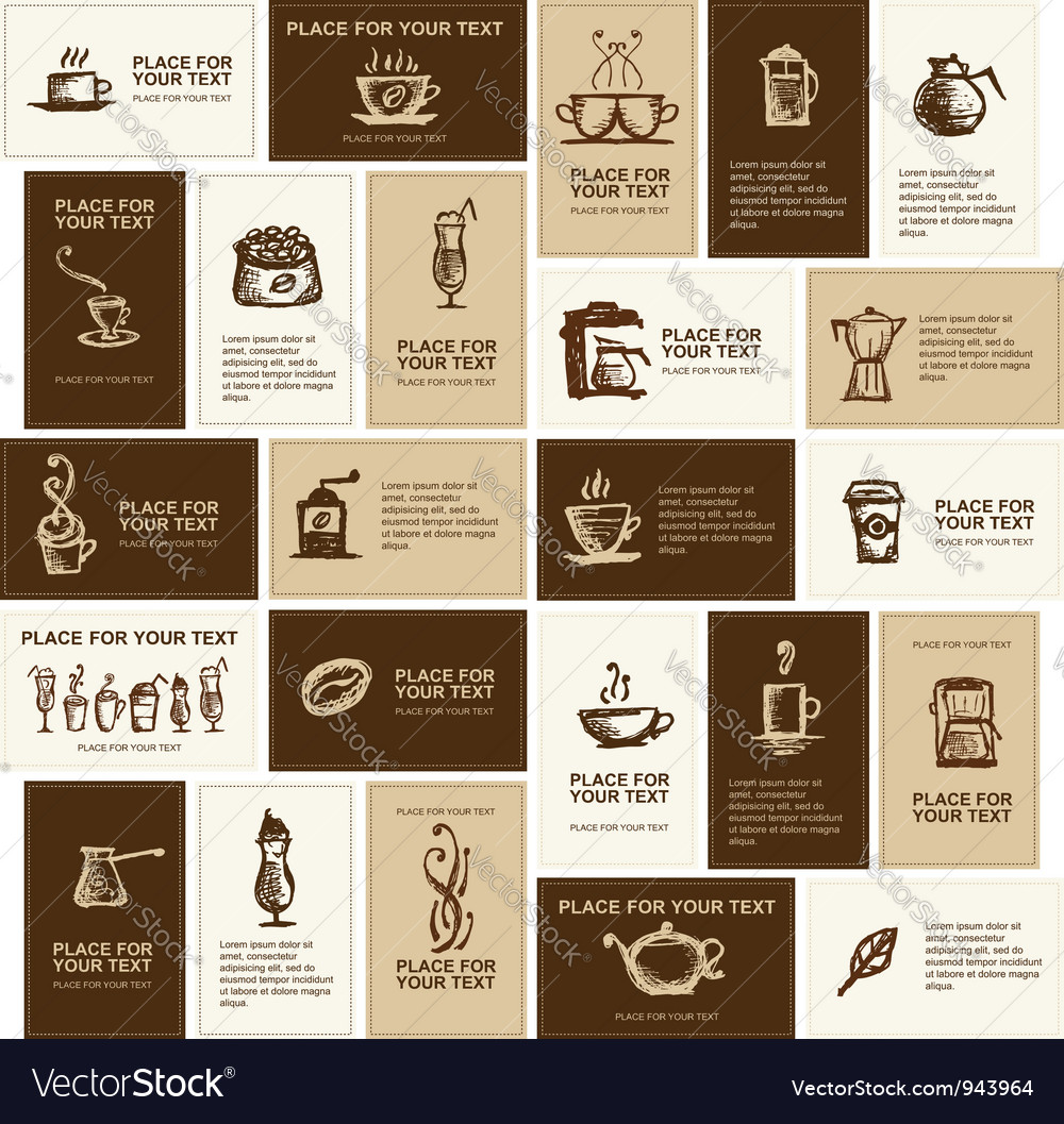 Design of business cards for coffee company vector | Price: 1 Credit (USD $1)