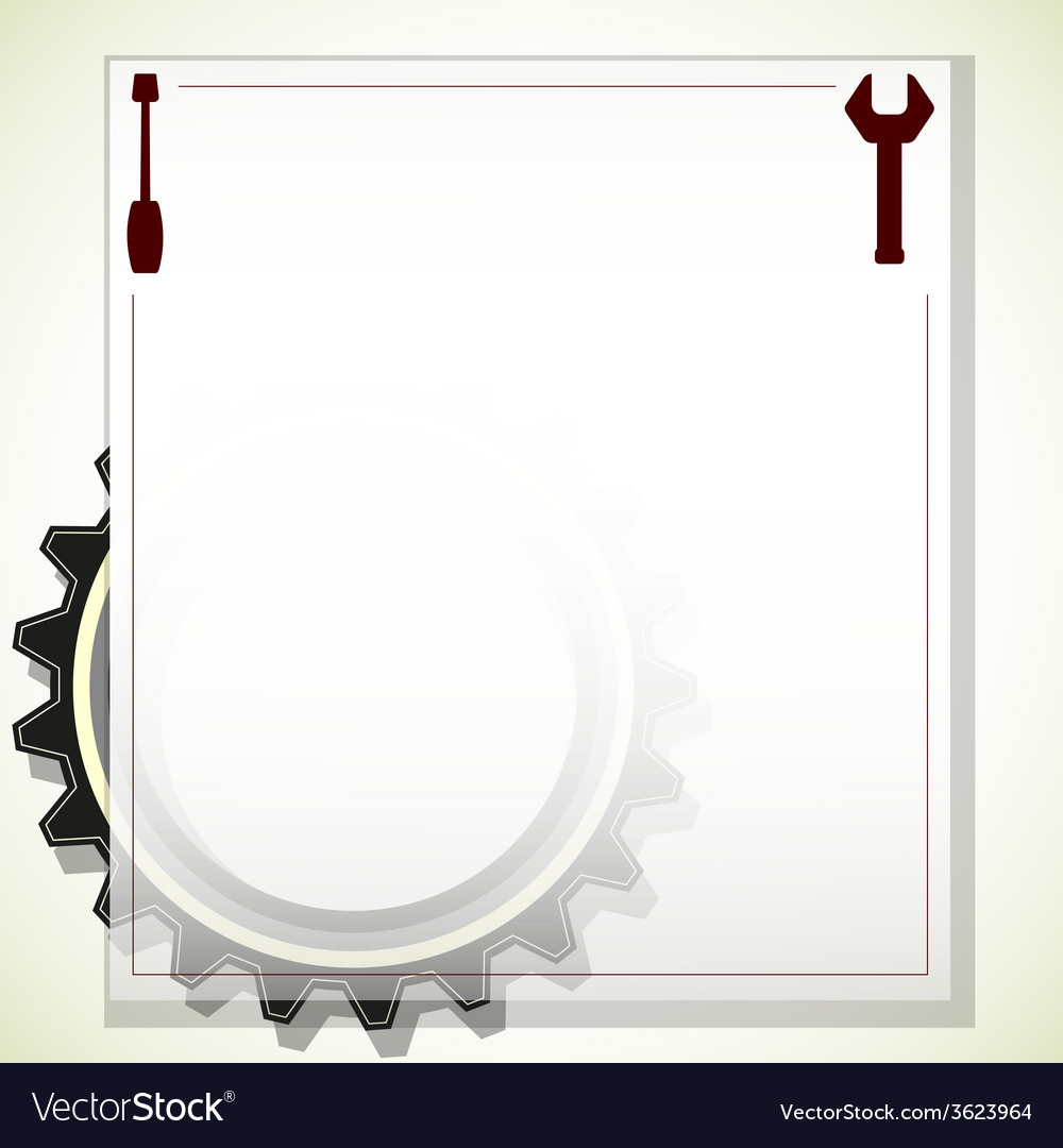 Frame for text with gears vector | Price: 1 Credit (USD $1)