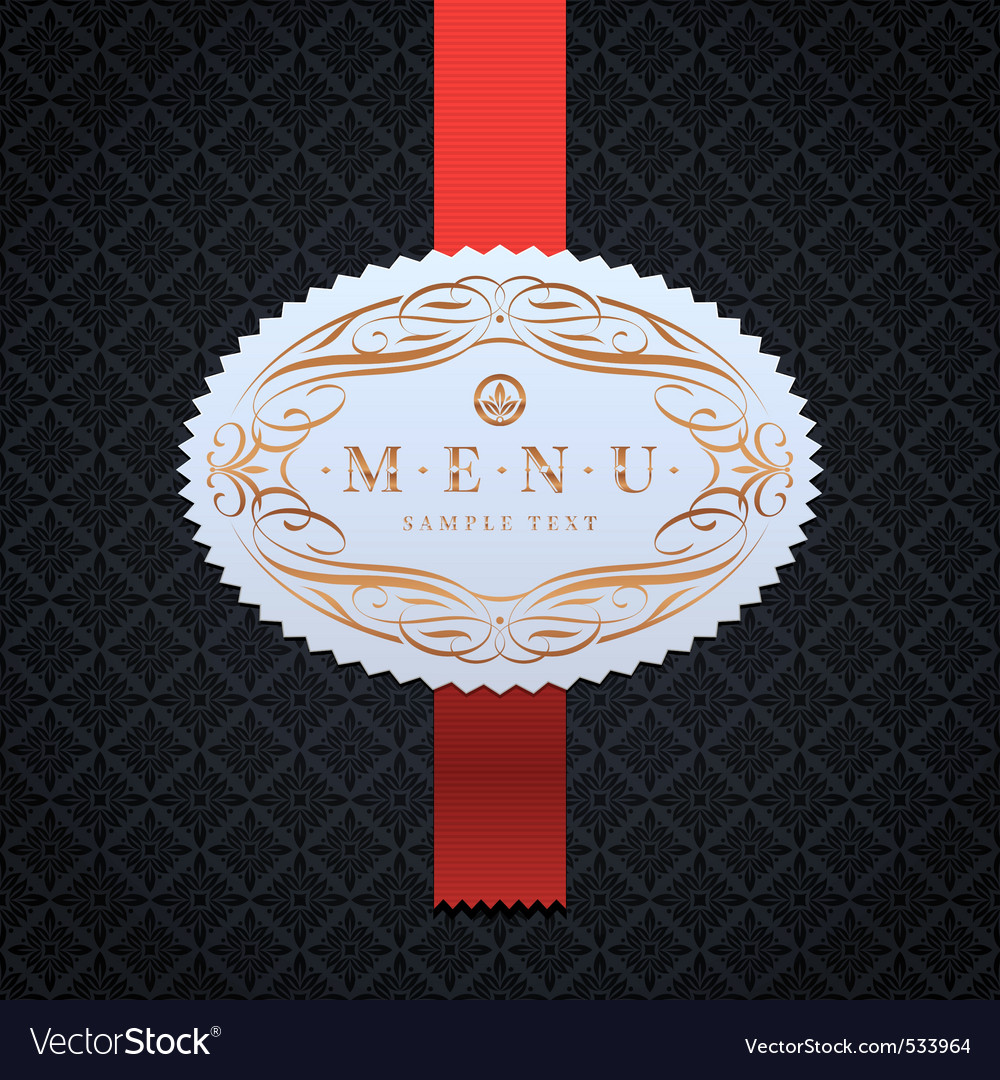 Framed ornate menu label vector | Price: 1 Credit (USD $1)
