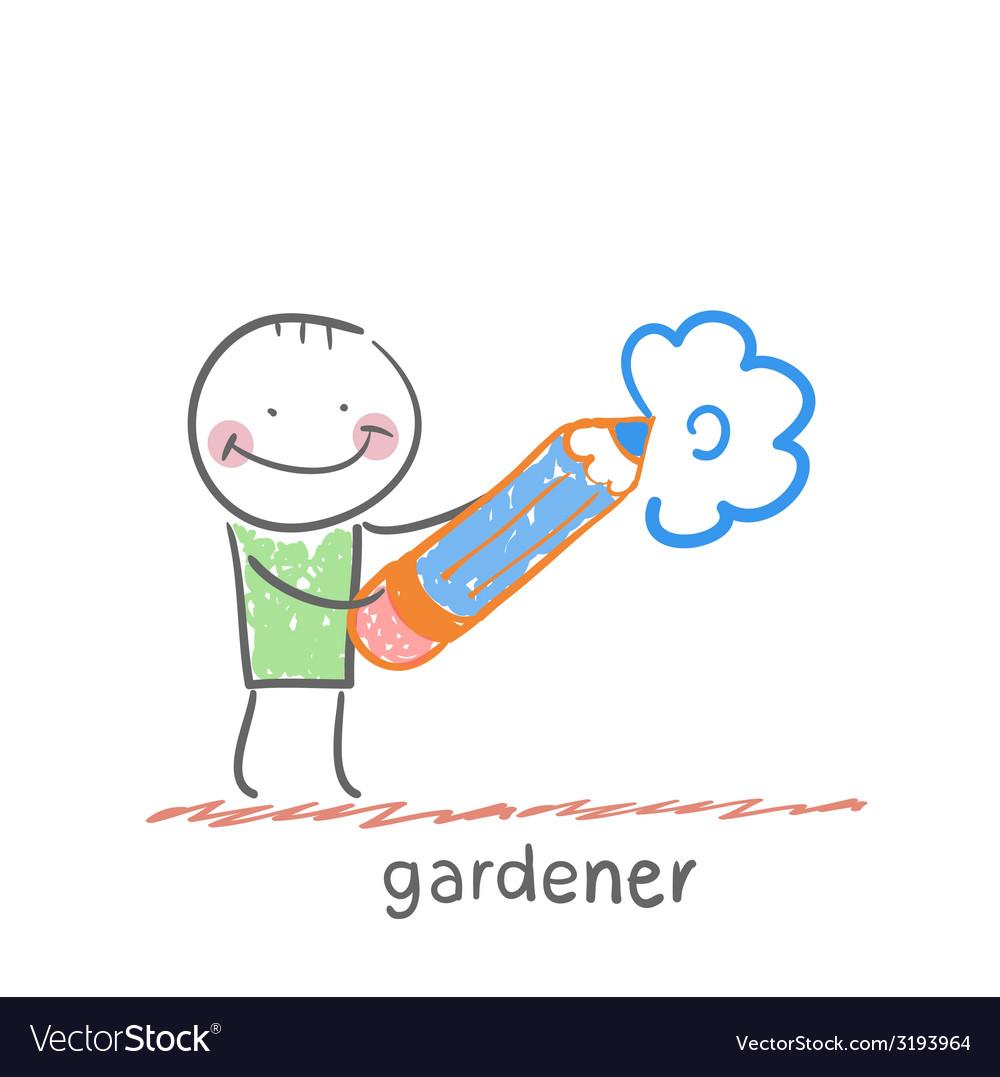 Gardener vector   Price: 1 Credit (USD $1)