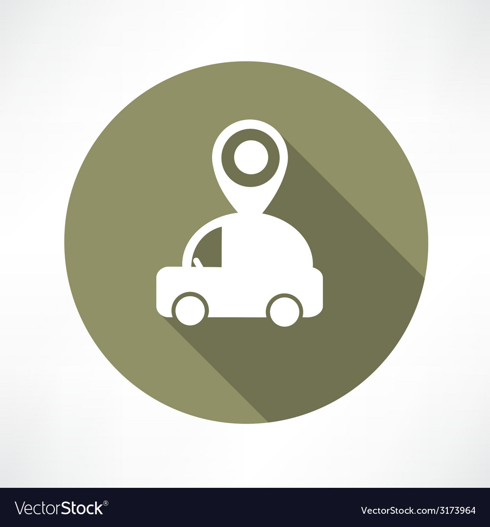Map pointer with car icon vector | Price: 1 Credit (USD $1)