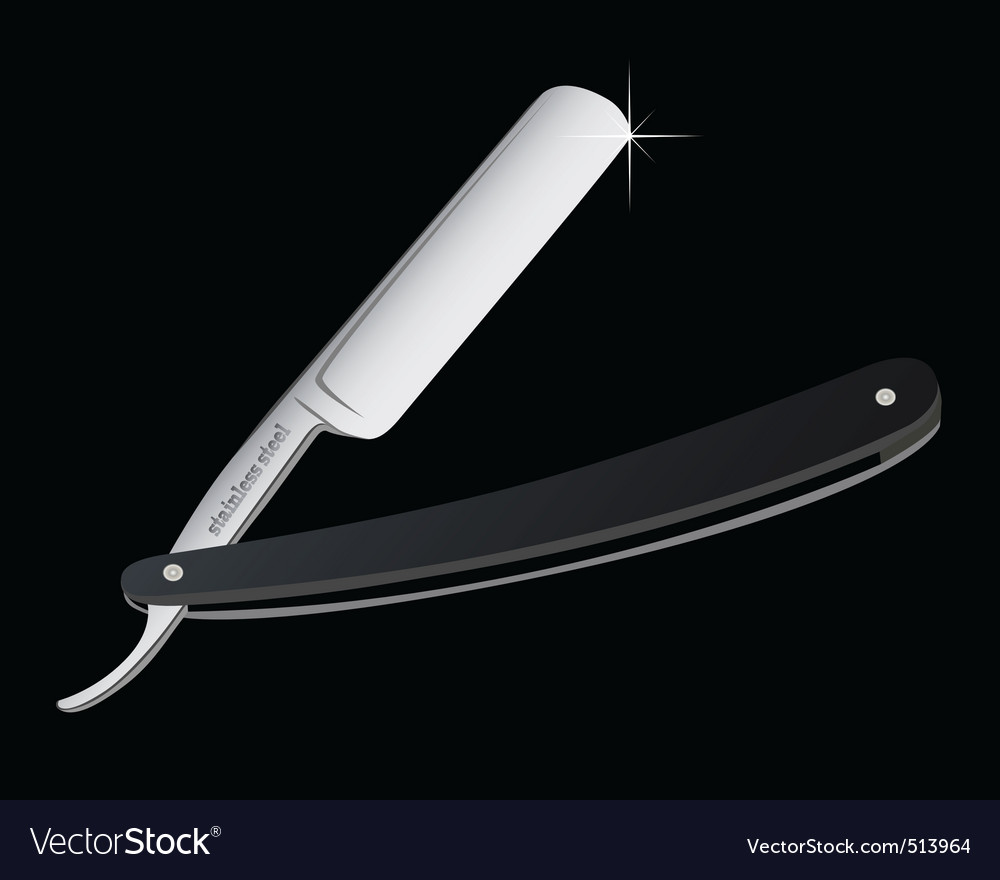 Opened open razor vector | Price: 1 Credit (USD $1)