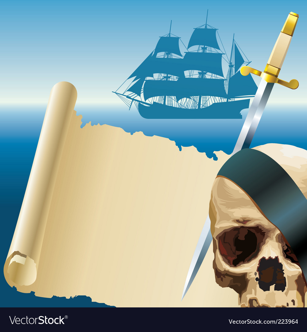 Pirates parchment vector | Price: 3 Credit (USD $3)