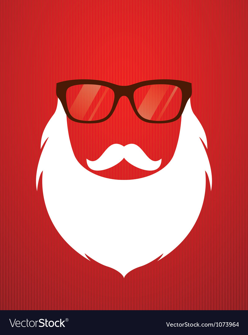 Santa beard and glasses vector | Price: 1 Credit (USD $1)