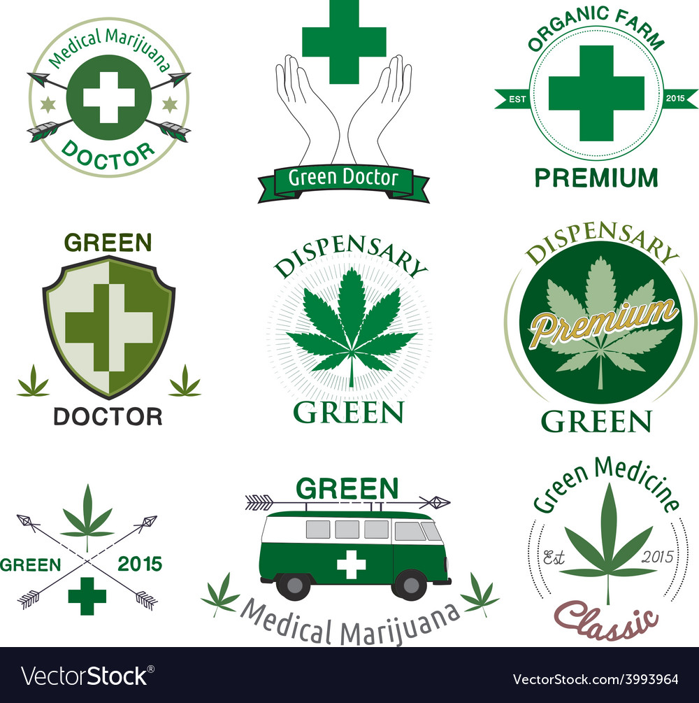 Set of cannabis and marijuana vector | Price: 1 Credit (USD $1)