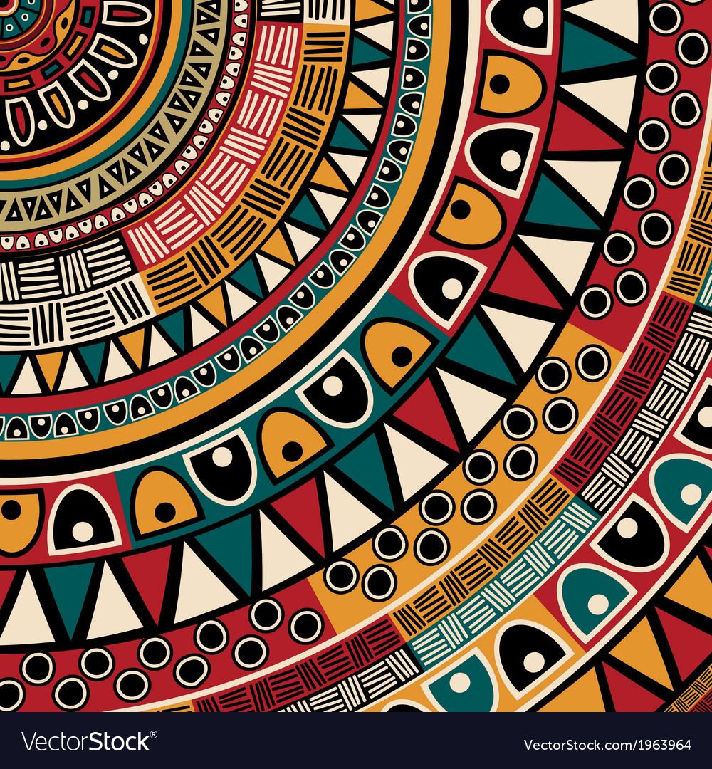 Tribal ethnic background vector | Price: 1 Credit (USD $1)