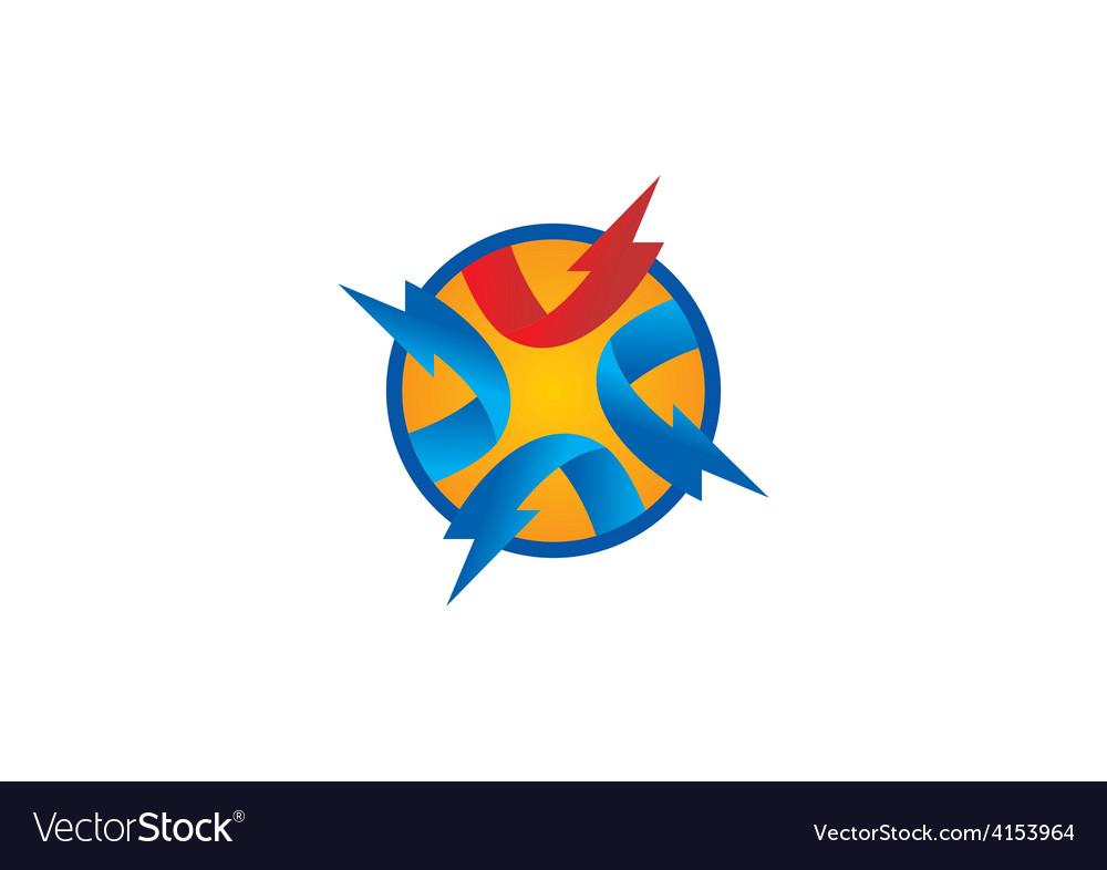 Volt circle abstract logo vector | Price: 1 Credit (USD $1)
