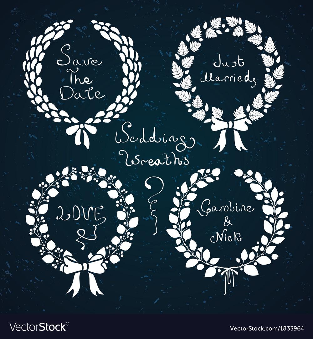 Wedding wreaths vector | Price: 1 Credit (USD $1)