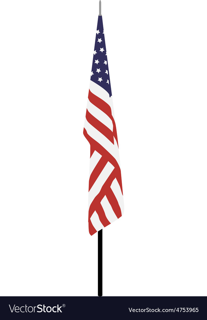 American flag on stand vector | Price: 1 Credit (USD $1)
