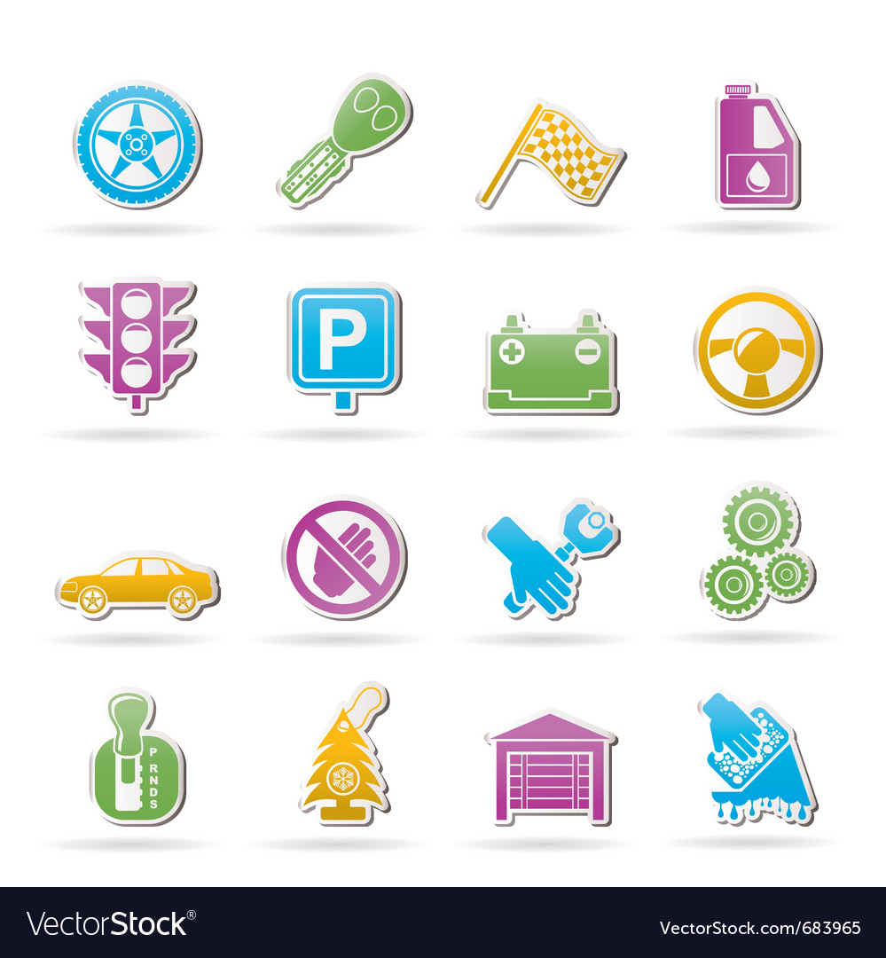 Car and transportation icons vector | Price: 1 Credit (USD $1)