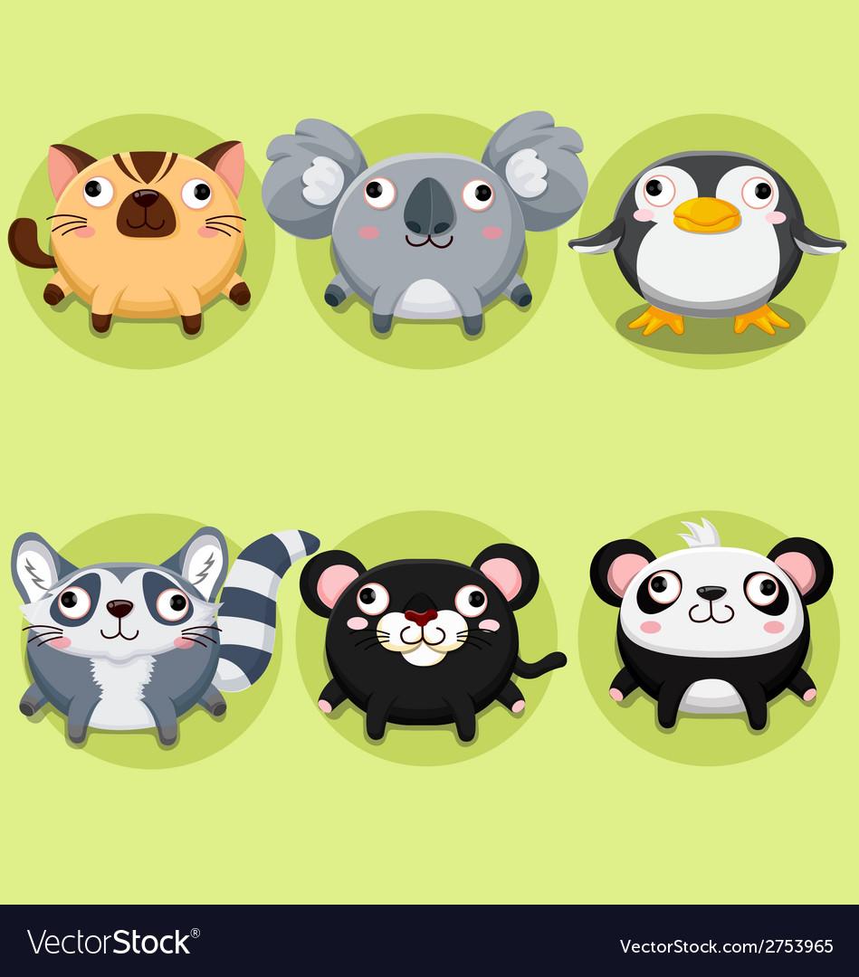 Cartoon and cute animals vector | Price: 1 Credit (USD $1)