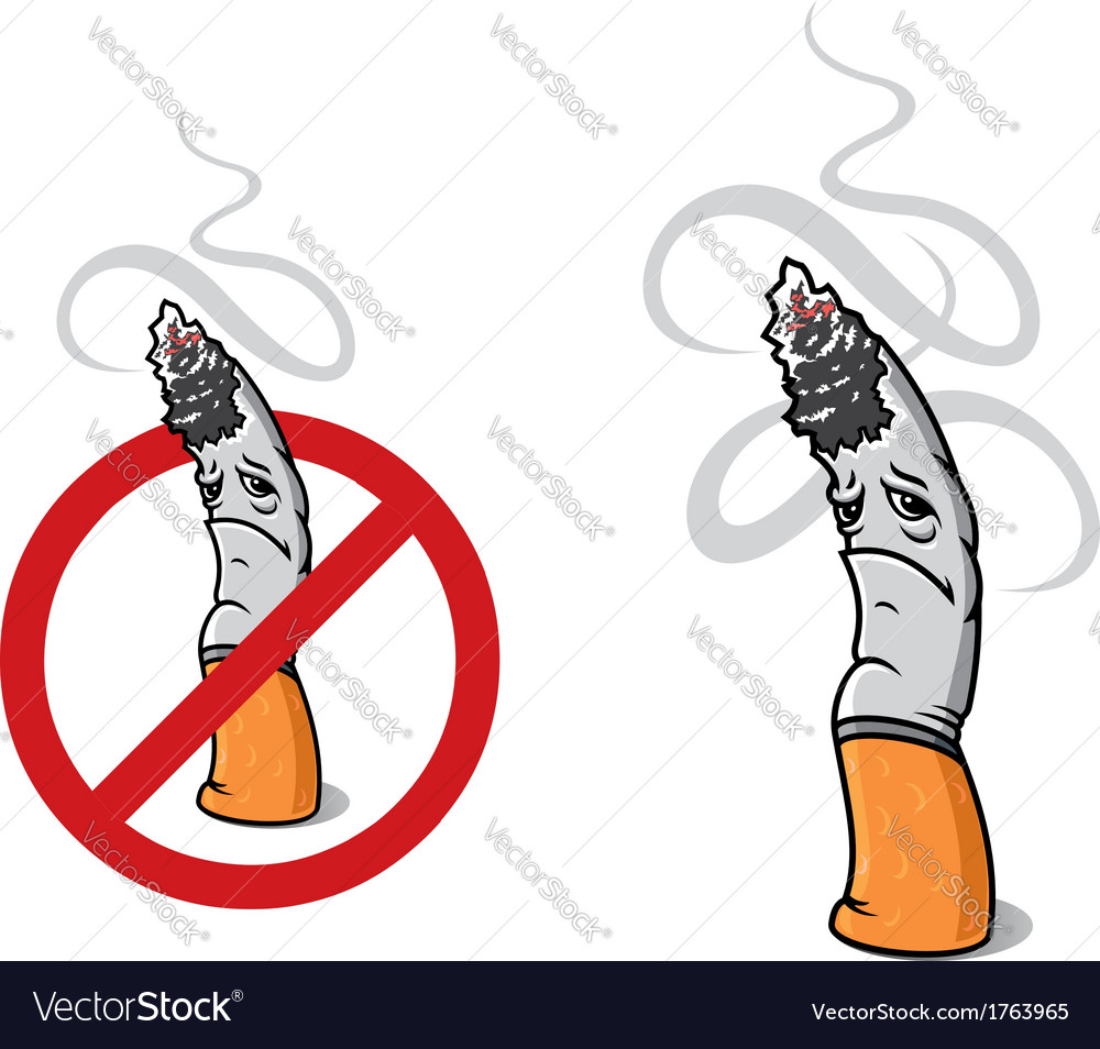 Closeup cigarette for sign of prohibition vector | Price: 1 Credit (USD $1)