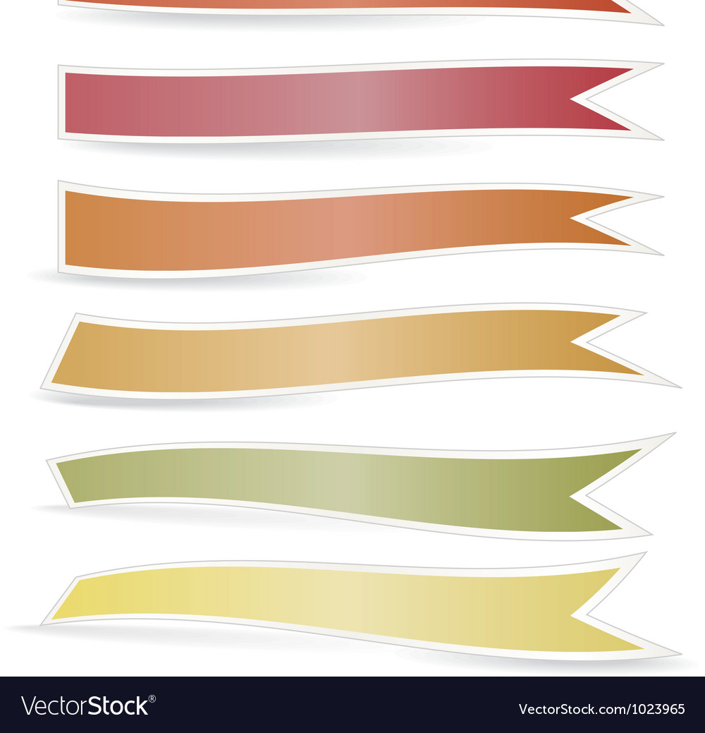 Decorative color ribbons vector | Price: 1 Credit (USD $1)
