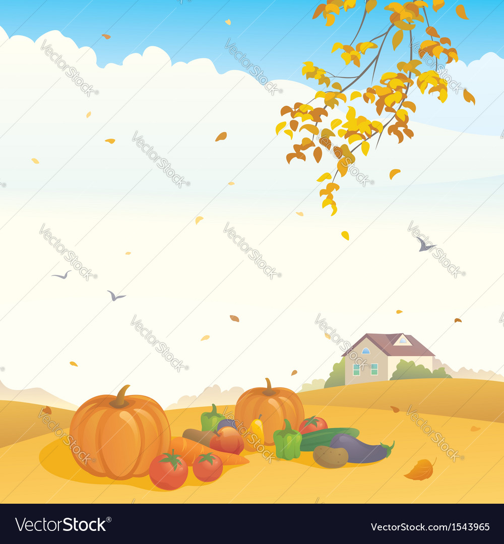 Fall crop vector | Price: 1 Credit (USD $1)
