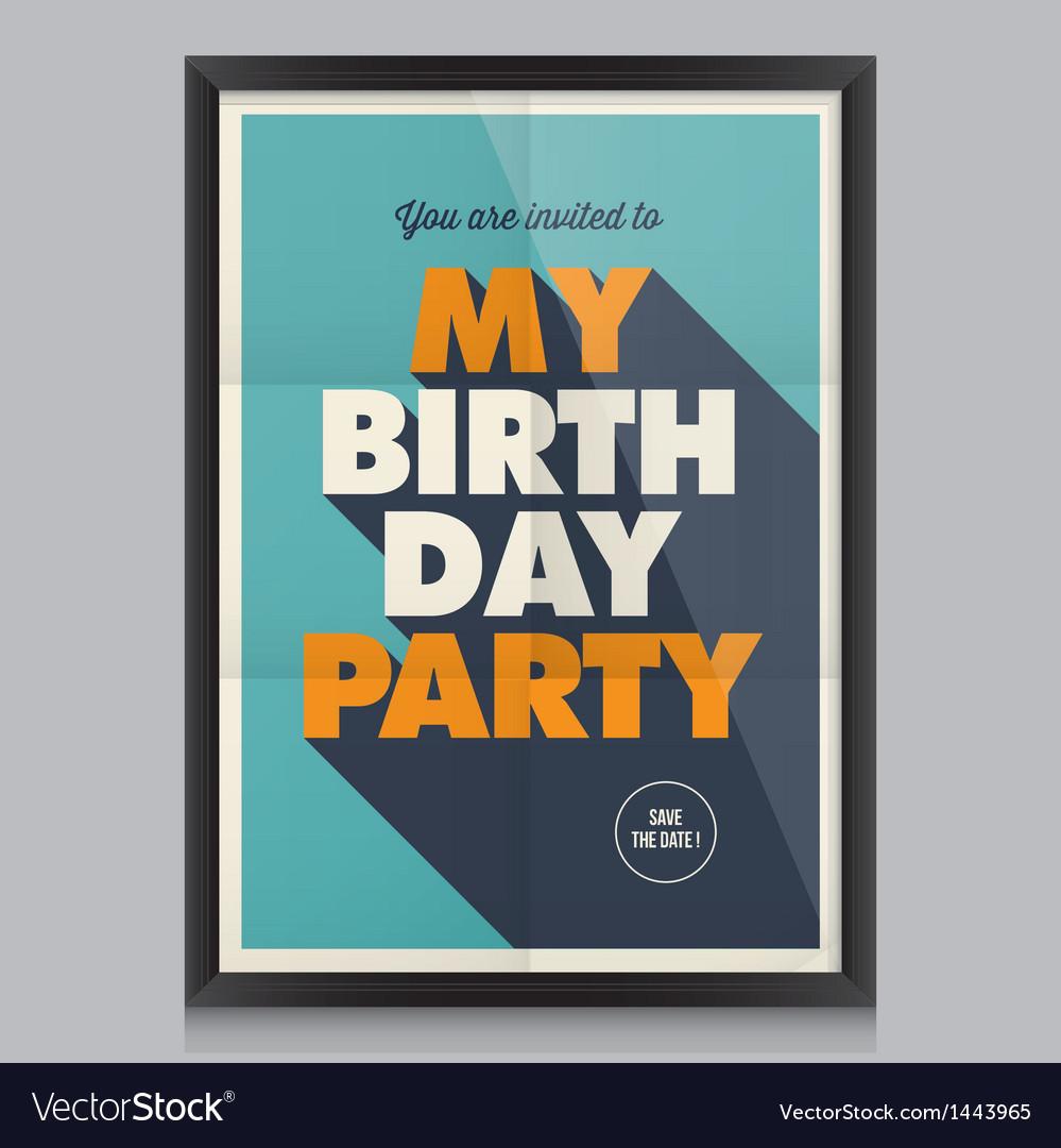 Happy birthday poster card vector   Price: 1 Credit (USD $1)