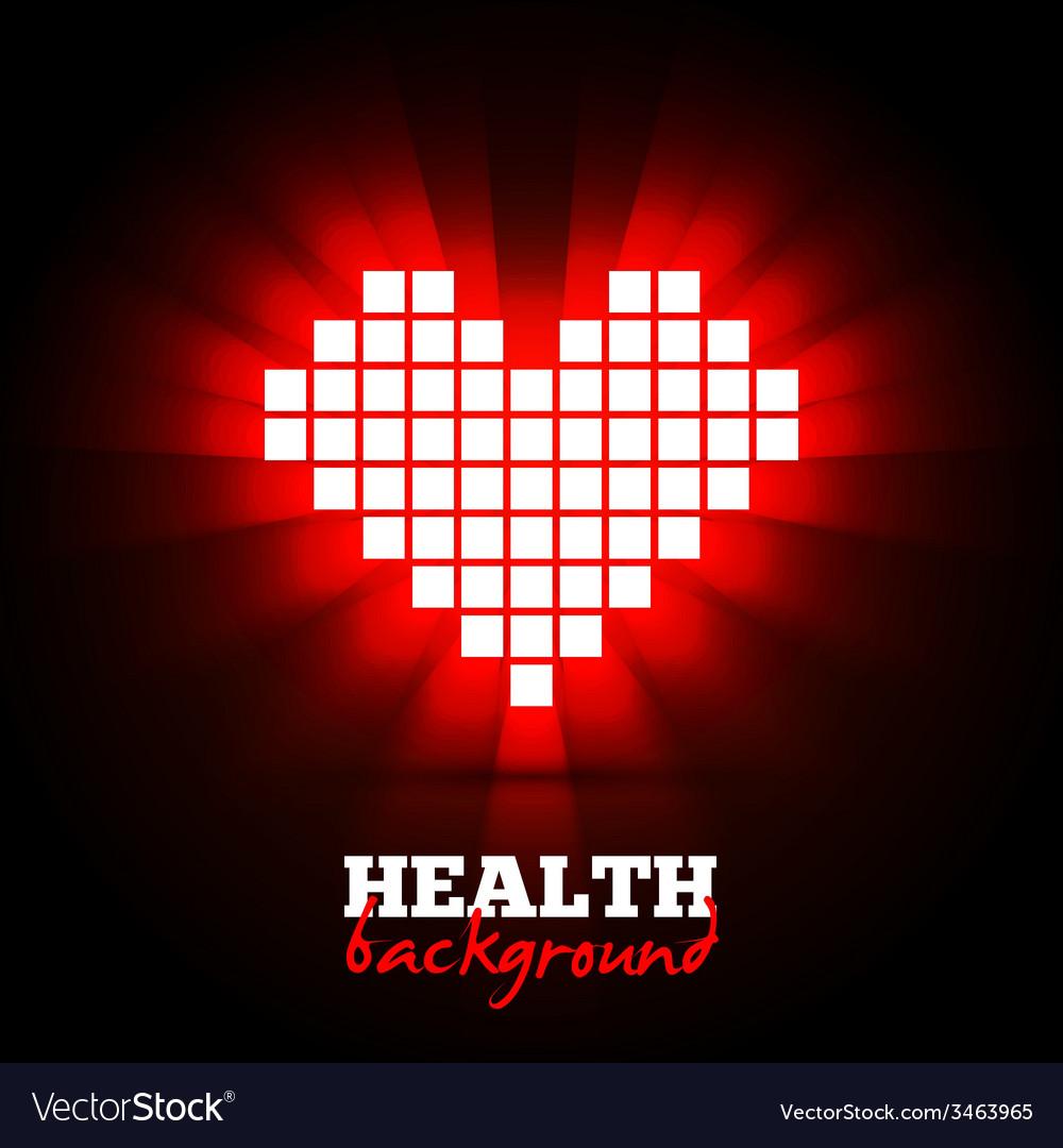 Heart energy health concept vector | Price: 1 Credit (USD $1)