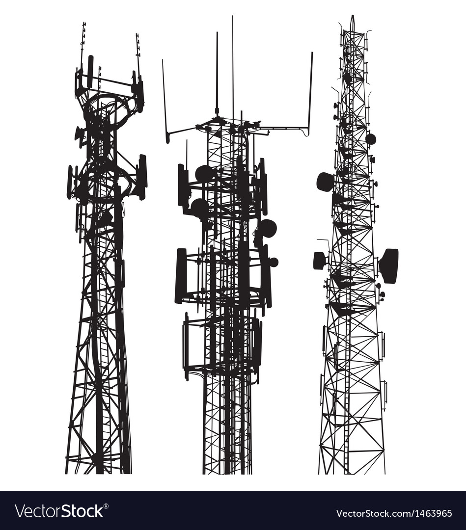 Mobile phone masts vector | Price: 1 Credit (USD $1)