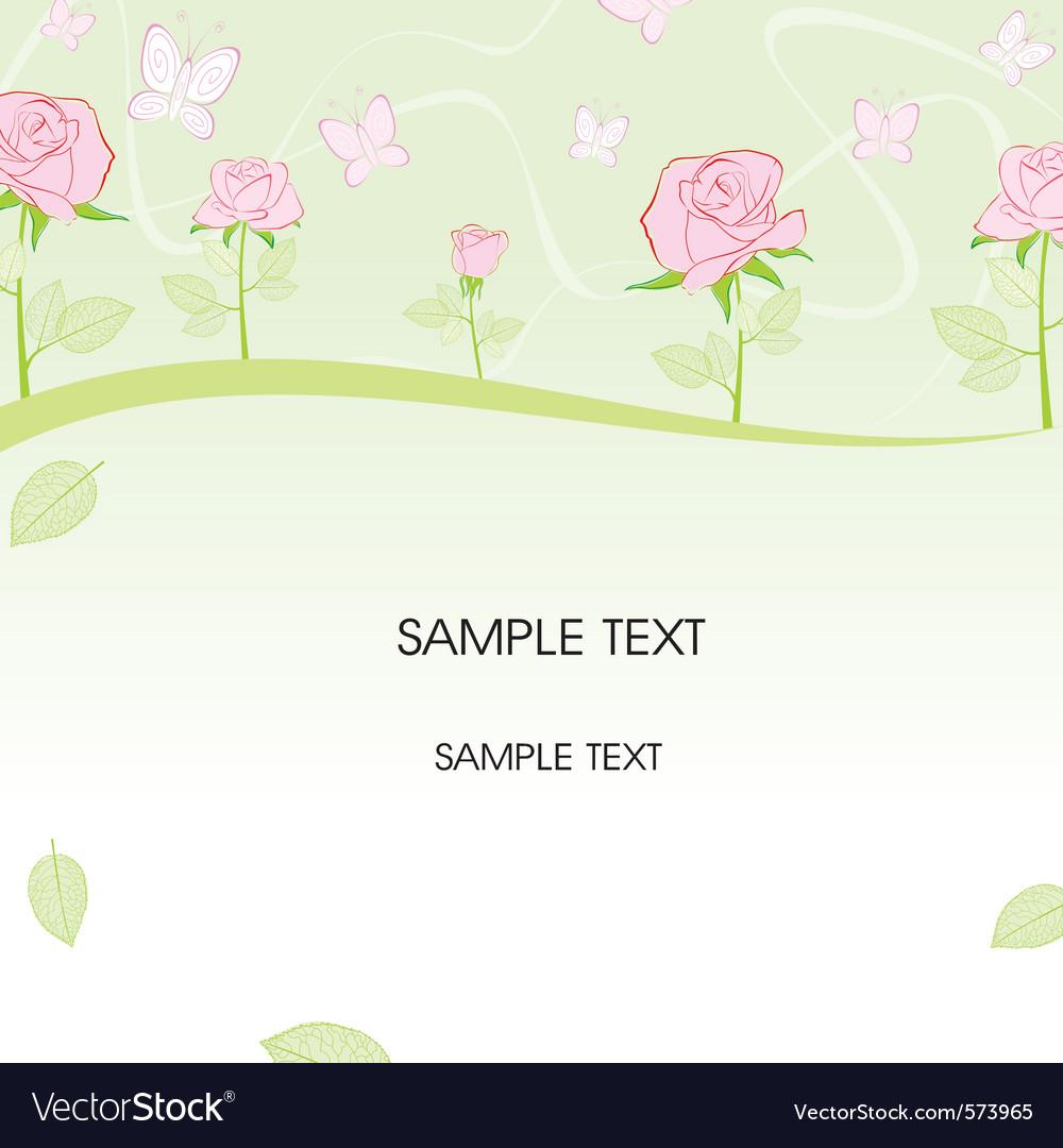 Rose border vector   Price: 1 Credit (USD $1)