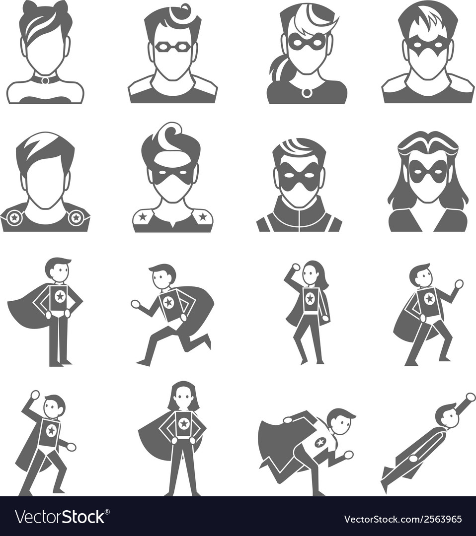 Super hero icon vector | Price: 1 Credit (USD $1)