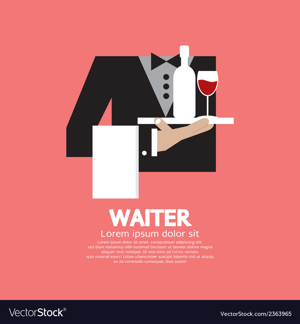 Waiter vector | Price: 1 Credit (USD $1)