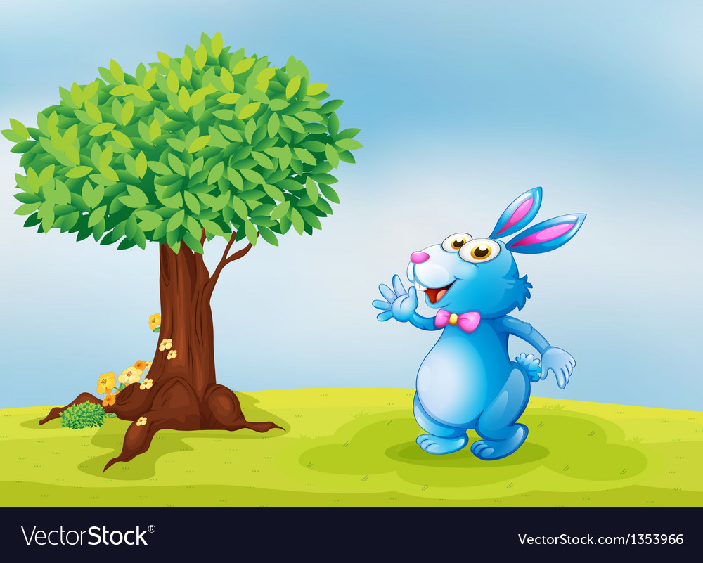 Blue bunny vector | Price: 1 Credit (USD $1)