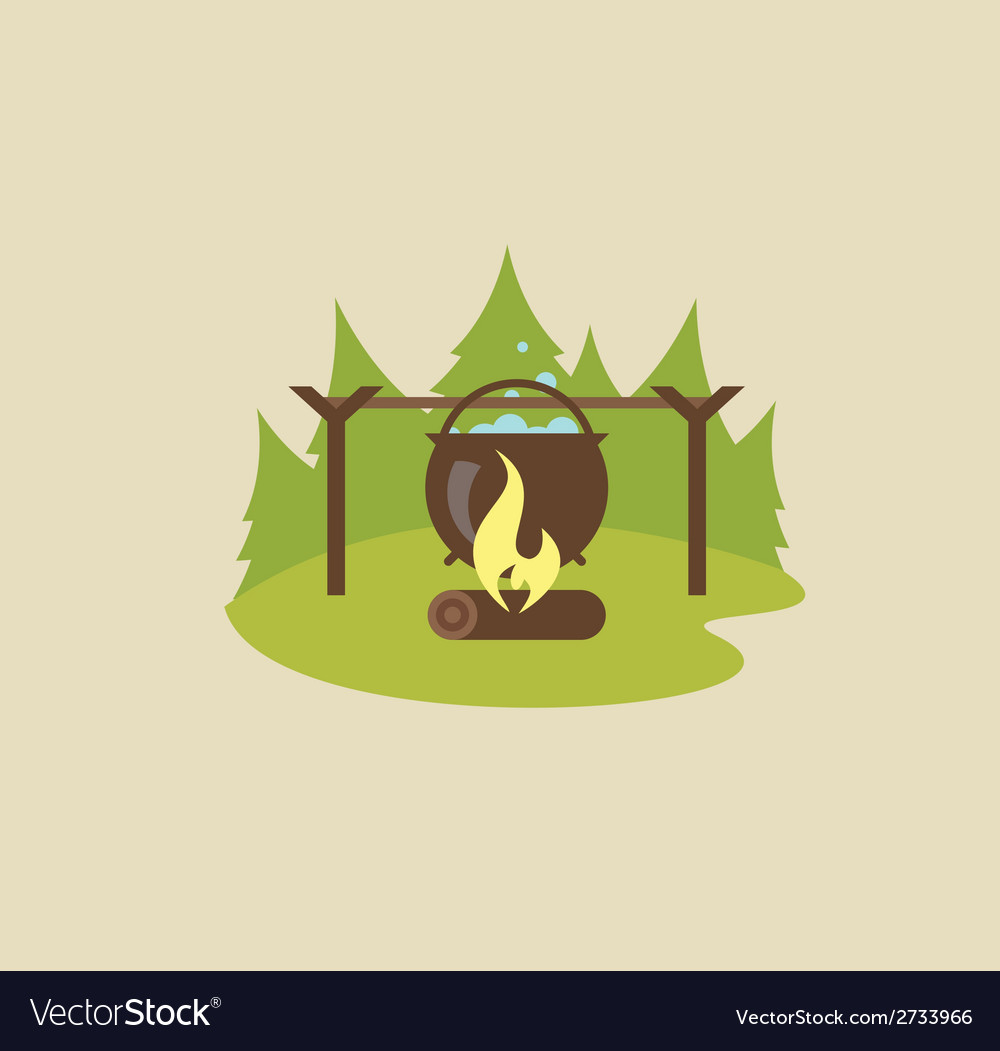 Camp fire vector | Price: 1 Credit (USD $1)