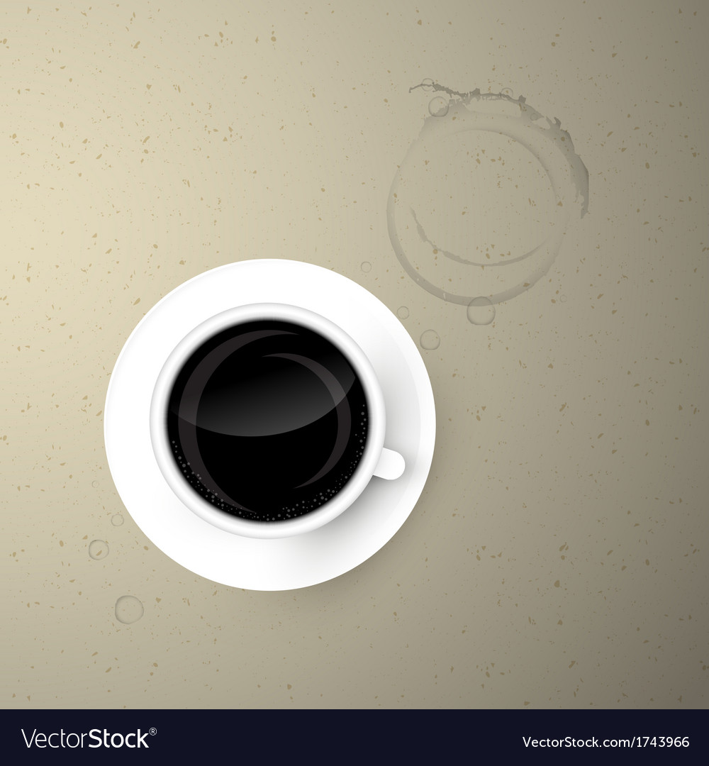 Cup of coffee on paper background vector | Price: 1 Credit (USD $1)