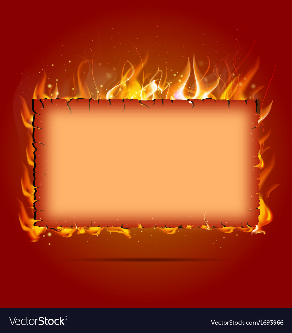 Frame with fire vector | Price: 1 Credit (USD $1)