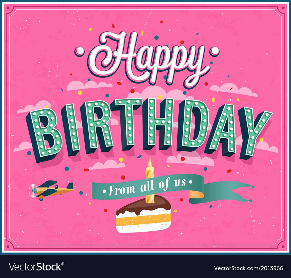 Happy birthday typographic design vector | Price: 1 Credit (USD $1)