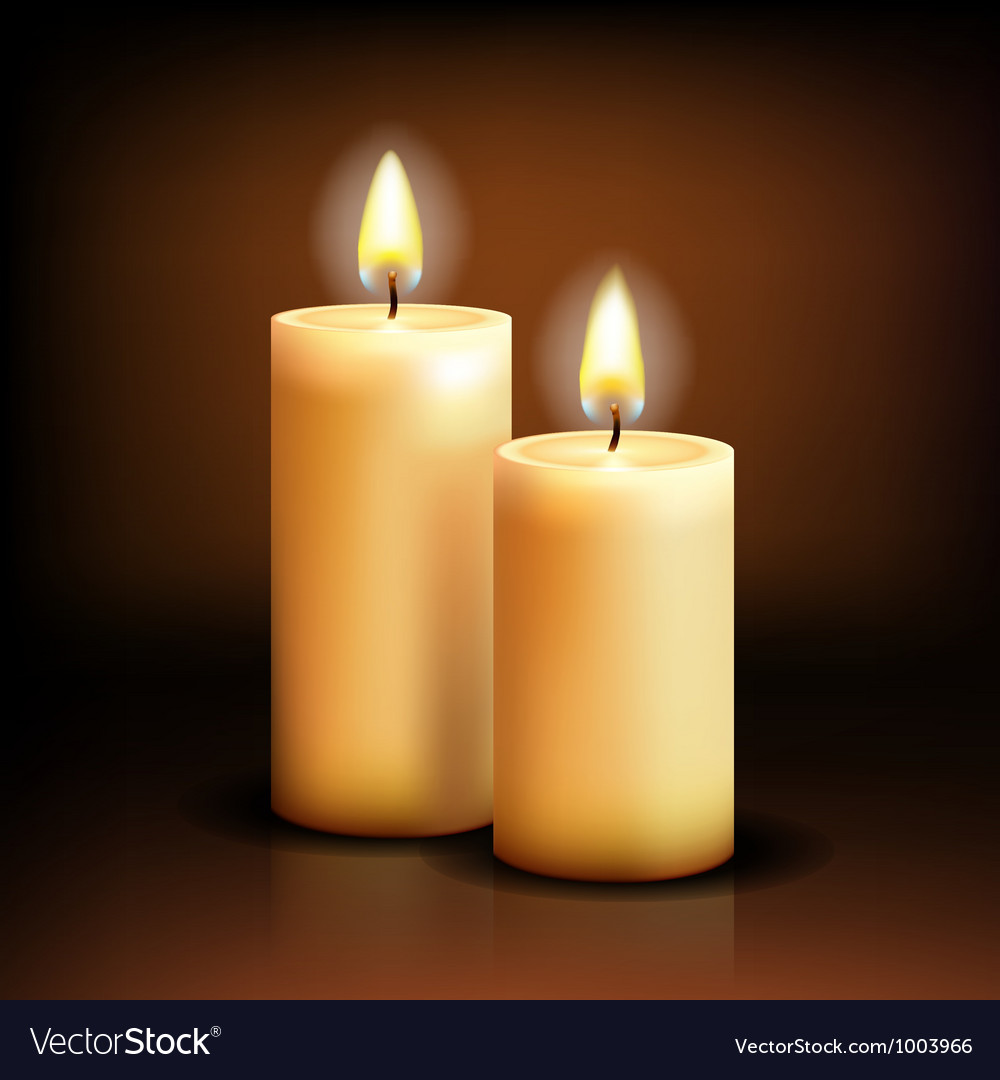 Isolated candles vector | Price: 1 Credit (USD $1)