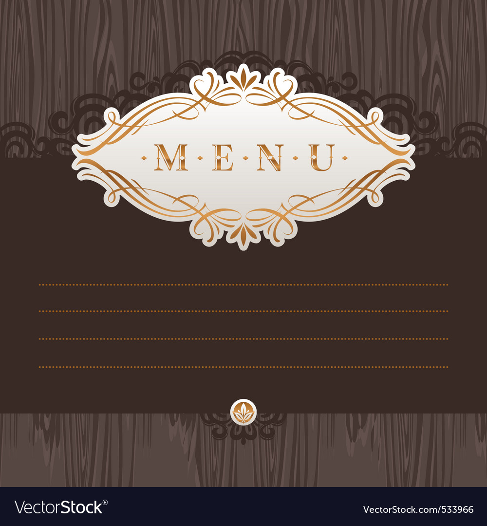 Menu with calligraphic frame vector | Price: 1 Credit (USD $1)