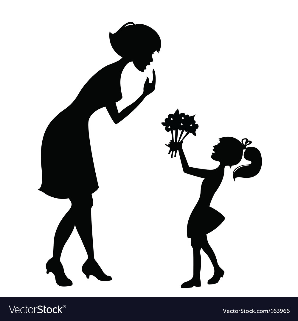 Mother with child vector | Price: 1 Credit (USD $1)