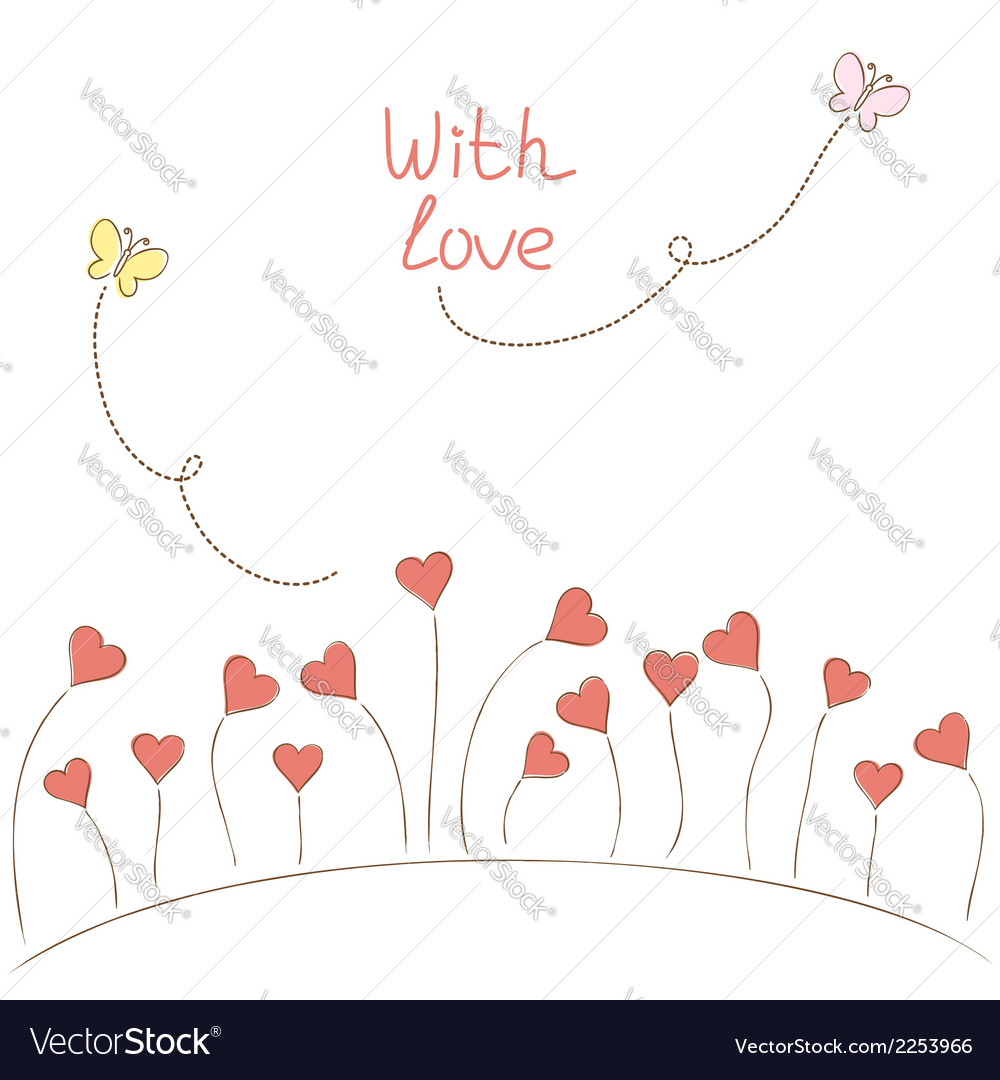 Romantic flowers vector | Price: 1 Credit (USD $1)