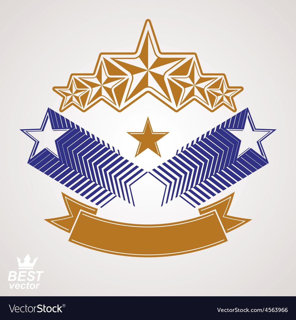 Stylized royal symbol aristocratic graphic emblem vector   Price: 1 Credit (USD $1)