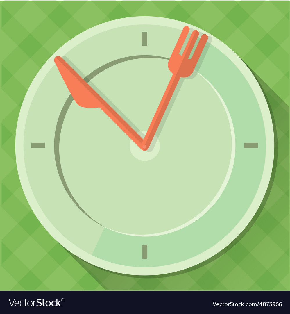 Time to eat vector | Price: 1 Credit (USD $1)