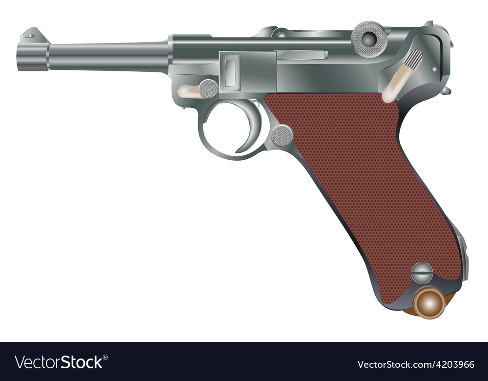 Vintage personal pistol of ww2 times vector | Price: 1 Credit (USD $1)