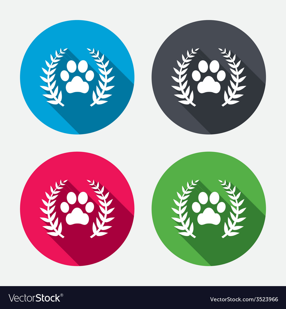 Winner pets laurel wreath sign icon vector | Price: 1 Credit (USD $1)