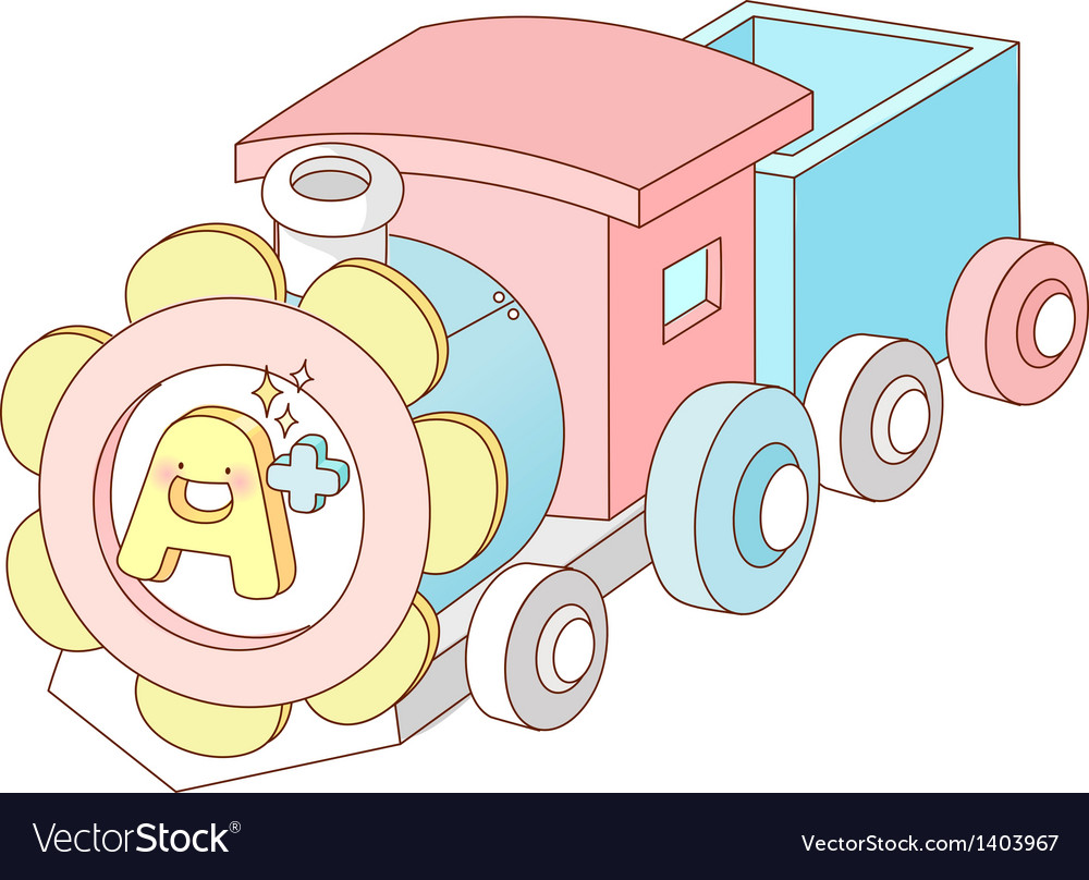 A view of toy train vector | Price: 1 Credit (USD $1)