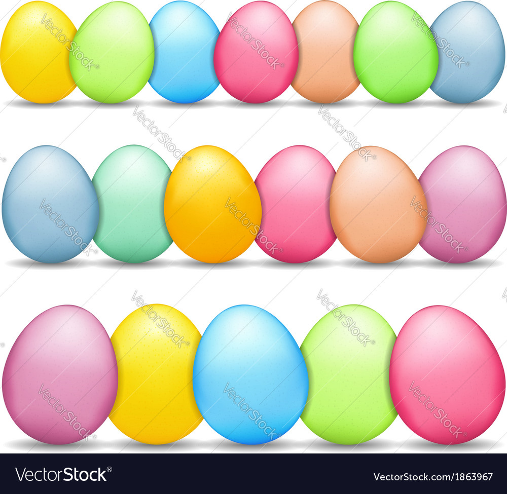 Colored easter eggs vector | Price: 1 Credit (USD $1)