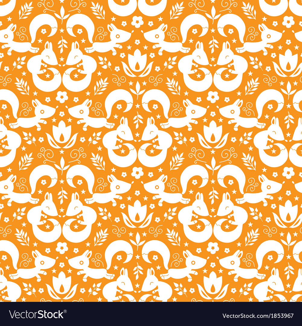 Cute geometrical foxes seamless pattern background vector | Price: 1 Credit (USD $1)