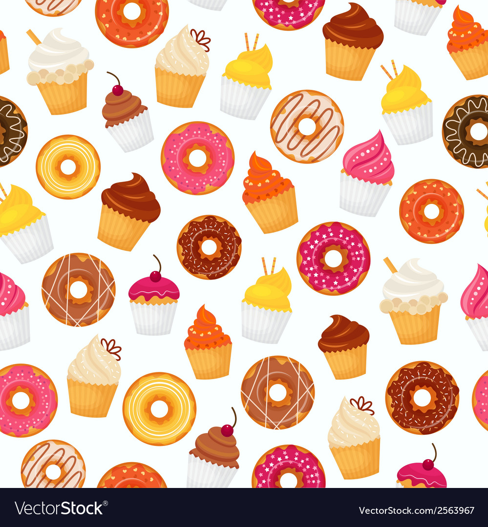 Donut seamless pattern vector   Price: 1 Credit (USD $1)