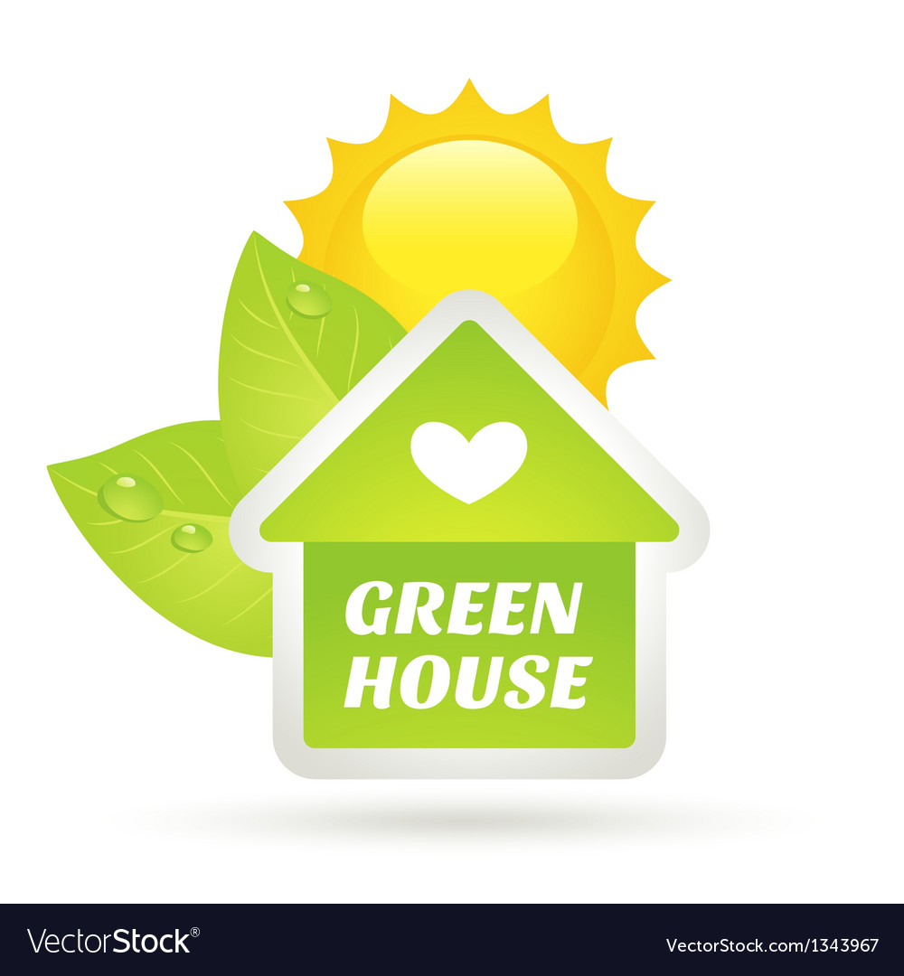 Green home eco concept vector | Price: 1 Credit (USD $1)