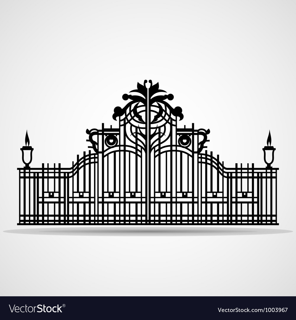 Ornamental gate vector