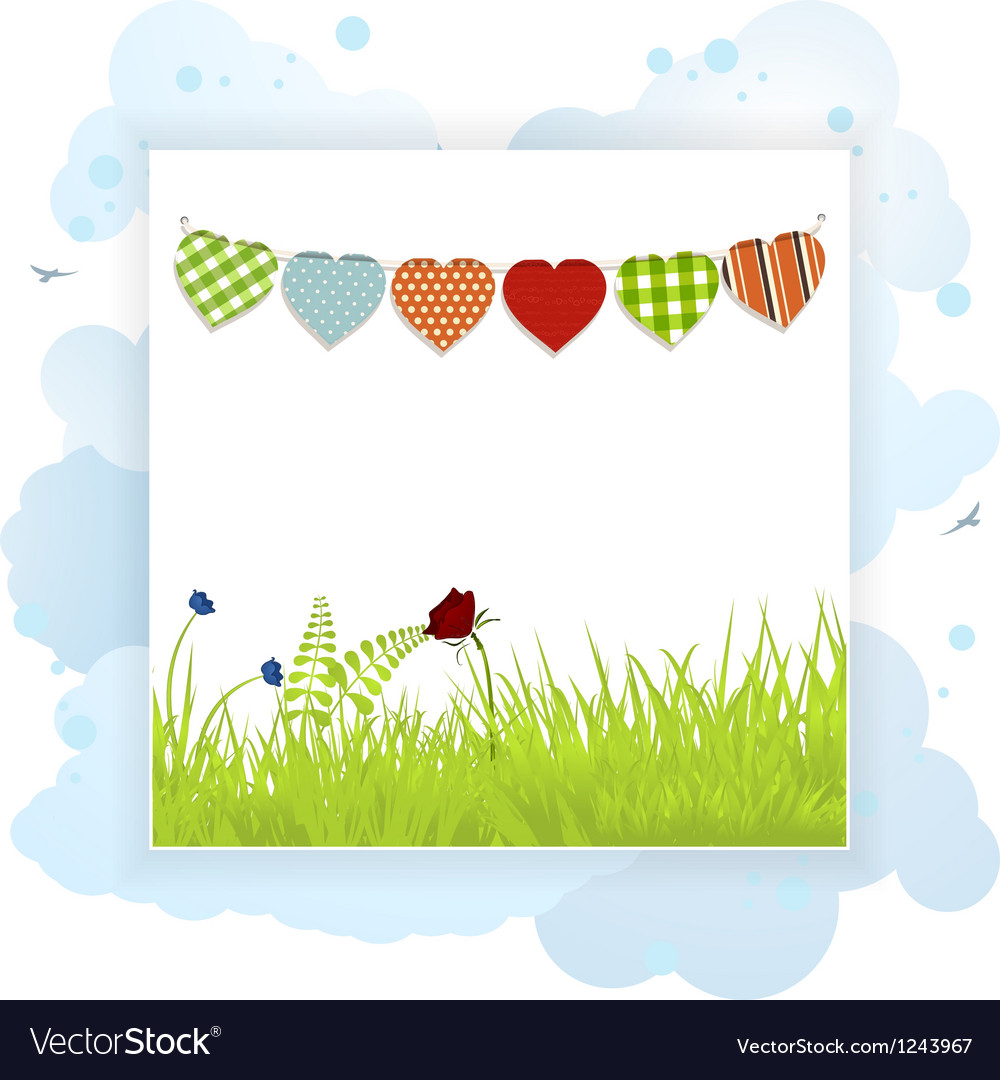 Spring background panel vector | Price: 1 Credit (USD $1)