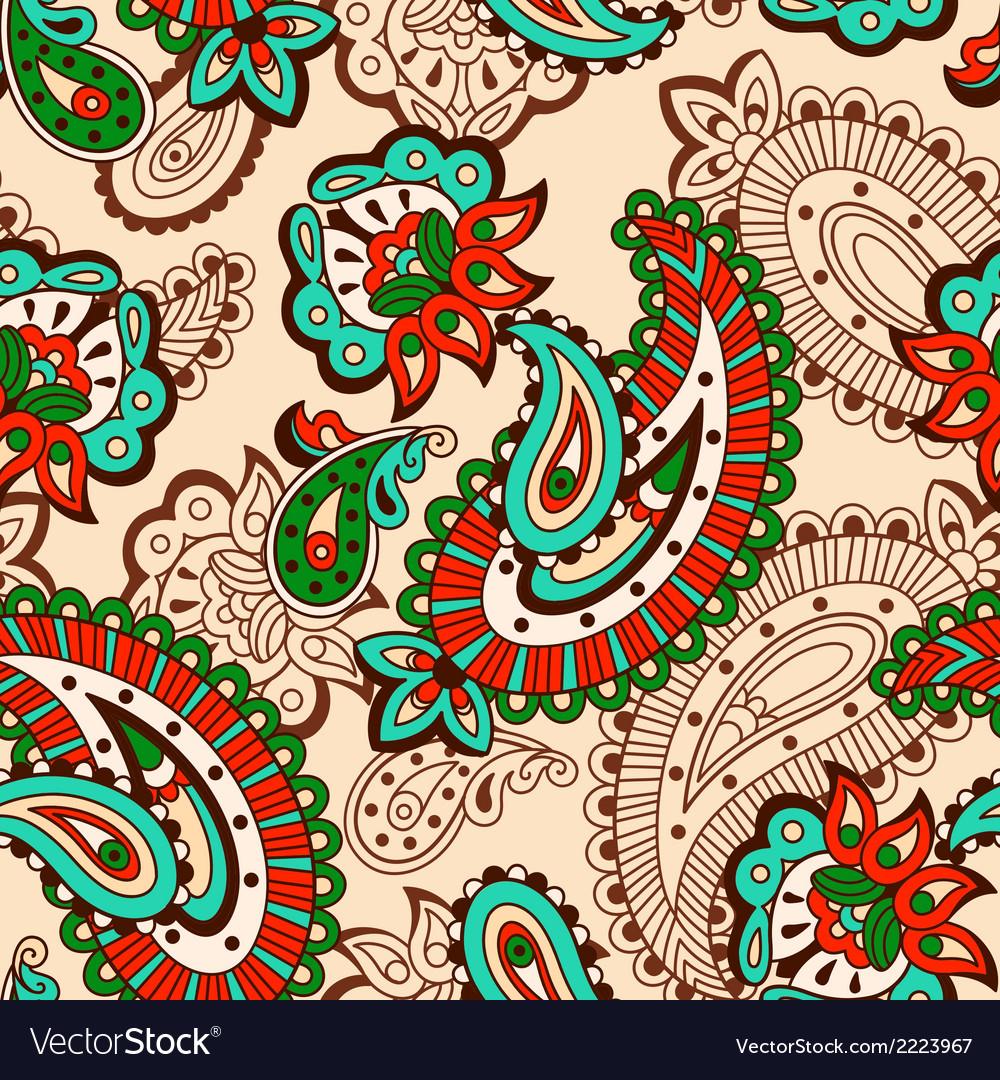Turkish cucumber seamless pattern beige style vector | Price: 1 Credit (USD $1)
