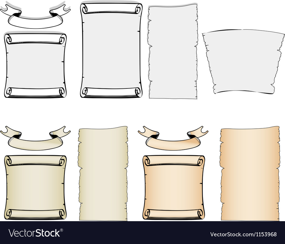 Ancient paper banners vector | Price: 1 Credit (USD $1)