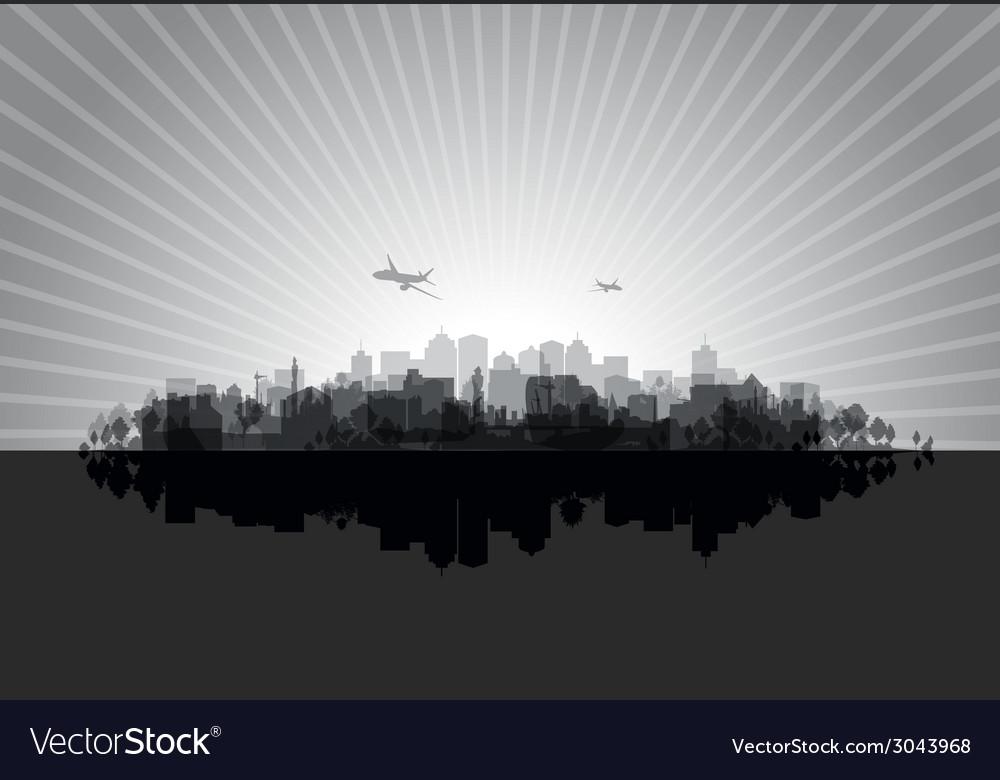 Black cityscape vector | Price: 1 Credit (USD $1)