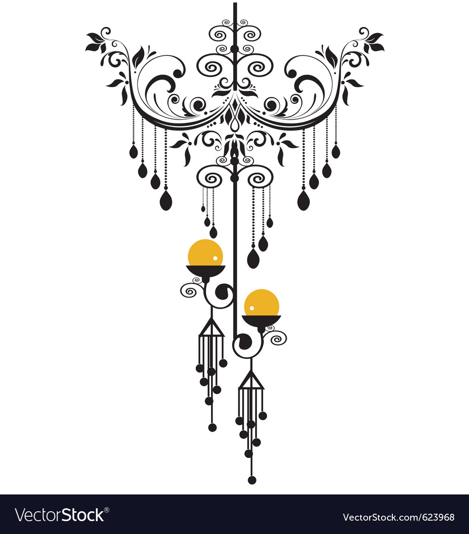 Chandelier silhoeutte vector | Price: 1 Credit (USD $1)